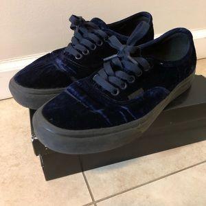 Vans Women's Velvet Slip On Shoes